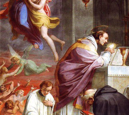 San Nicolás de Tolentino, patrón de las almas del purgatorio